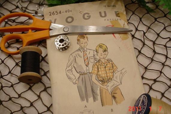 1953 Vintage Pattern Boys Shirt Vogue