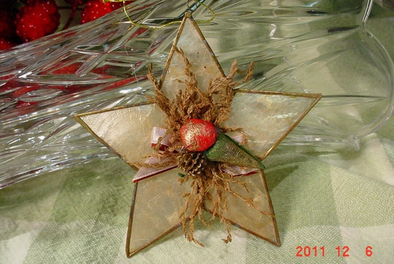 Vintage Made by Hand Star Christmas Ornament