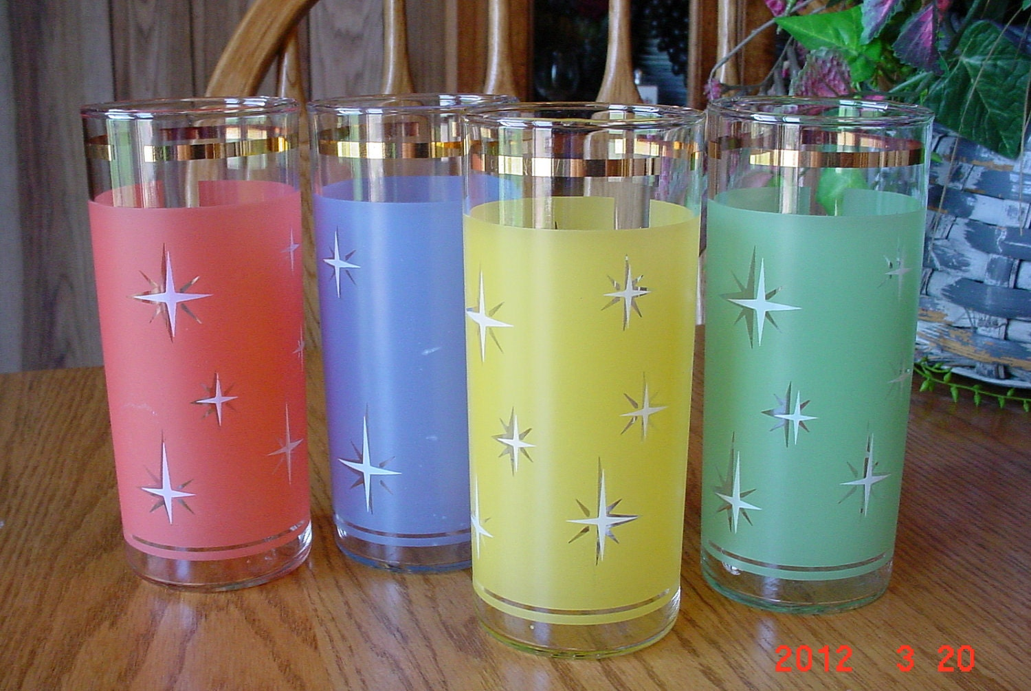 1950s atomic starburst drinking glasses - Starburst glassware ...