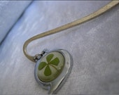 Handmade Four Leaf lucky clover bookmark worldwide free shipping