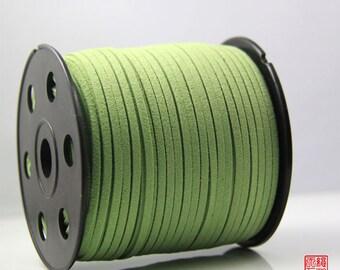 5M Apple Green Micro Fiber Suede Leather Cord