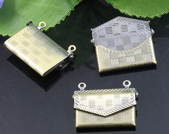 5pcs Envelope Locket Charm