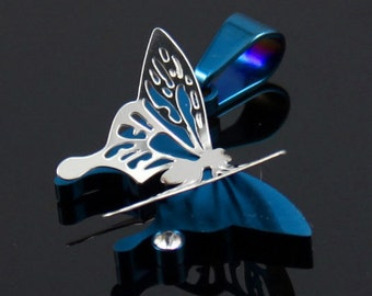 Lovely 2 Layers Butterfly Stainless Steel Pendant