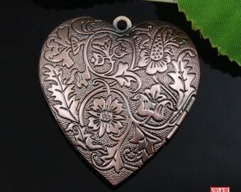 Copper Tone Heart Locket