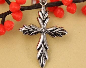 Lovely Cross Stainless Steel Pendant-C004