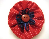 Red, White and Blue Hair Bow - Patriotic Salute decor