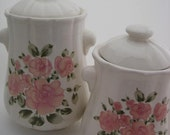 Vintage Country Rose Canister Set