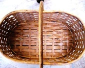 Vintage Woven Basket  - Perfect for Shopping or Decor - Large Farmers Market Natural Woven Basket