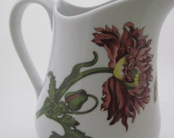 Cordon Bleu Pitcher - Caroline Collection - White Botanical Design