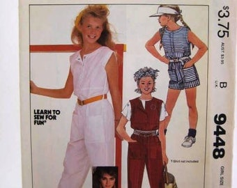 Vintage Brooke Shields Jumpsuit Pattern - Vintage 1982 McCall's Pattern 9448 with transfer