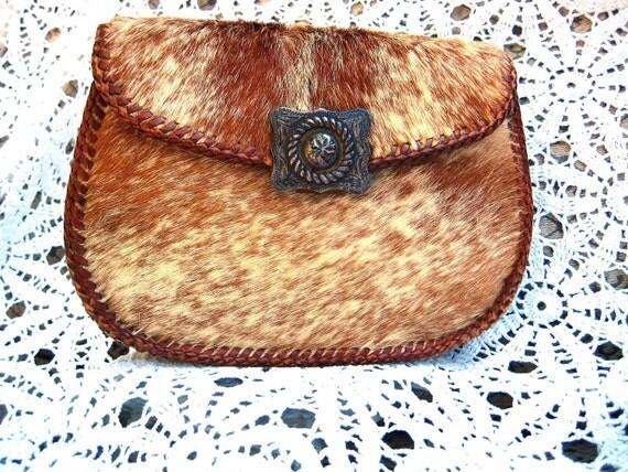 Vintage Evening Bag - Genuine Cowhide