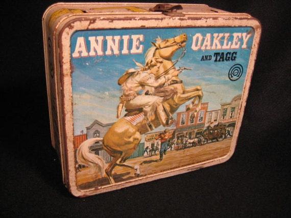 Vintage Metal Lunchbox - Annie Oakley and Tagg - 1955