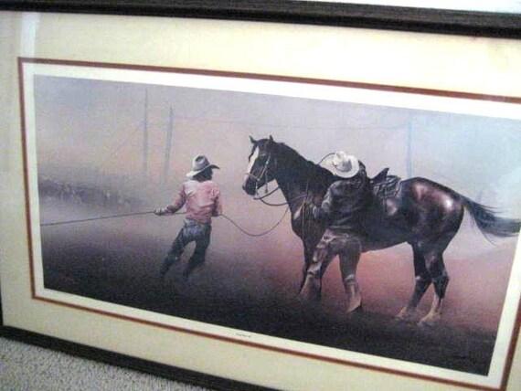 Western Art by Bill Jaxon Limited Edition Framed S/N with C of A
