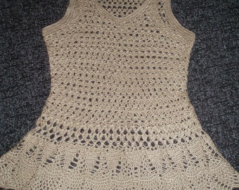 Handmade crochet summer lace cream shirt top blouse