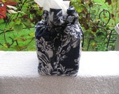 Blue Floral - Tissue Cover - Cotton - Home Decor - Furnishings - Accesories - Blue Decor- Novelty - Blue Floral Tissue Box Cover Case