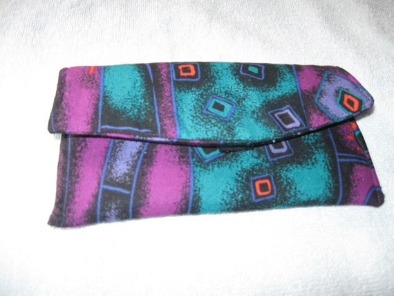 Clearance Sun or Eye Glass Case Multi-Colored  Colored Print Fabric Case