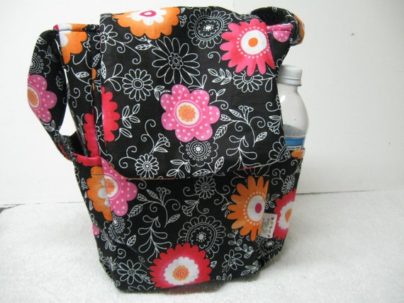 Lunch Bag, Adult Lunch Tote, Purple Lunchbag, Insulated Lunch Bag, Eco Friendly Fabric Tote, Thermal Tote Bag