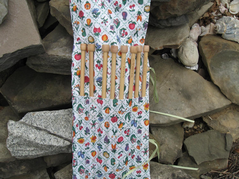 Knitting Needle Or Paint Brush Large Case Organizer Holder