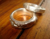 Sterling Silver Organic Carved Rings