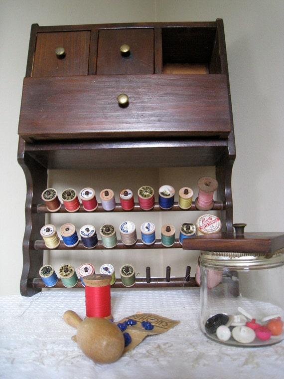 Wood Sewing Cupboard