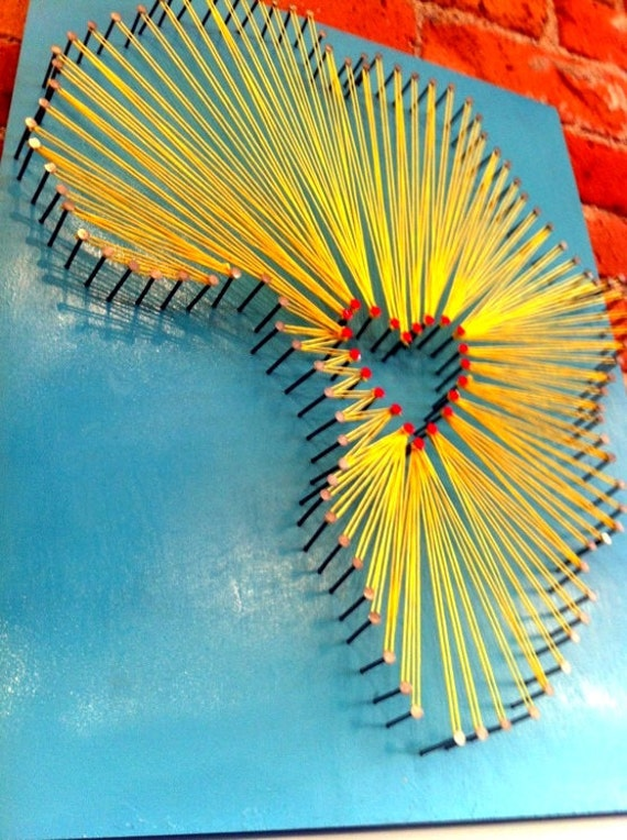 Items similar to Africa Nail & String Art - DRC Love on Etsy