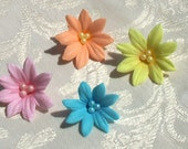 Summer Gum Paste Flowers with Pearl Centers