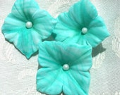 Teal Swirled Gum Paste Hydrangeas