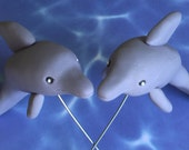 Edible Gum Paste Dolphin Cake Toppers