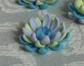 6 Gum Paste Spring Color Lotuses