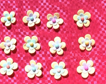 24 Layered Gum Paste Flowers with Pearl Center