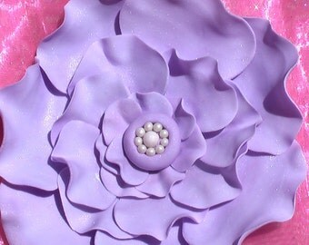 Gum Paste Large Open Rose with Pearl Center