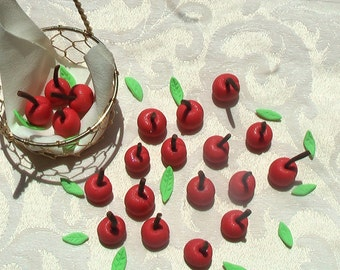 Gum Paste Cherries with Stems