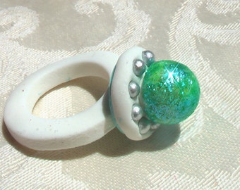 Sparkly Edible Gum Paste Ring