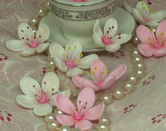 Gum Paste Sakura Cherry Blossoms with Stamens