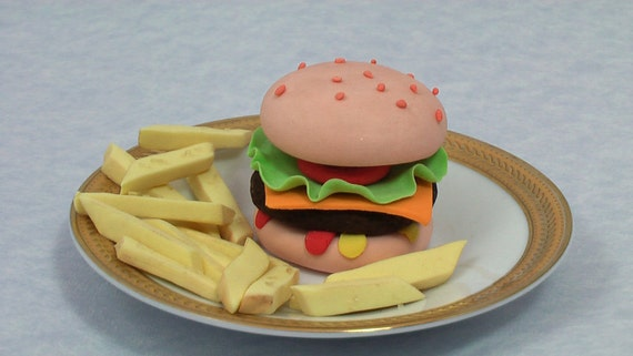 Hamburger and Fries Cake topper