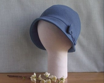 EXTRA LARGE Brimmed Cloche Hat with Bow - Made to measure