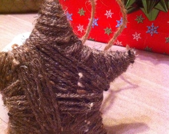 Christmas Rustic Star Yarn Ornament