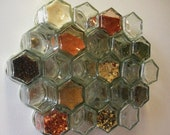 MAGNETIC Glass Jars (Set of TWENTY-FOUR Empty 1.5oz Jars) - Perfect Storage Solution for Spices, Crafts, and More
