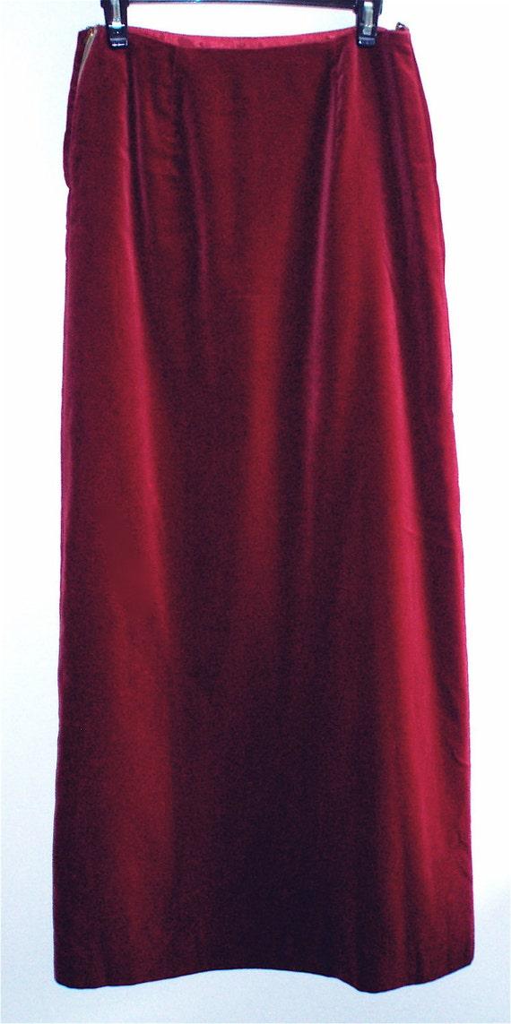 Vintage 1970's Velvet Skirt