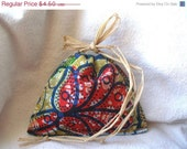 African wax Jewelry drawstring pouch raffia ecofriendly gift wrapping by Fianaturals(add-on)