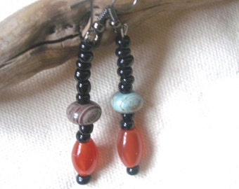 Jasper Carnelian Beauty Earrings by Fianaturals