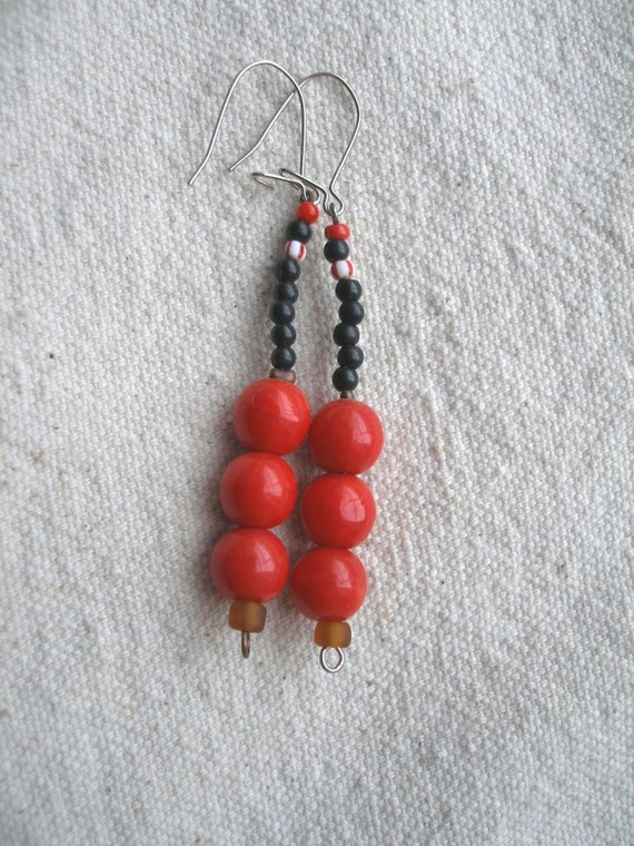 African Ripe red fruitsEarrings by Fianaturals on Etsy