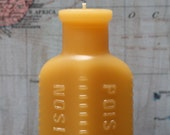 """beeswax Candles - antique bottle shaped - """"POISON"""" - by Pollen Arts - Sm."""