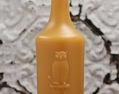 "Beeswax Candle - antique bottle shaped - ""OWL DRUG CO."" - by Pollen Arts - Lg."