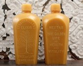 "Beeswax Candle - antique bottle shaped - XXL ""Tree of Life"" - by Pollen Arts"
