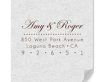 Personalized Wedding Stamp - Custom Return Address Stamps - Housewarming - Personalized Gifts - Home Address - Weddings - DIY Printing