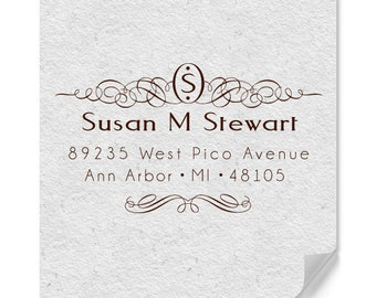 Personalized Address Stamps - One Letter Monogram - Return Address Stamp - DIY Addressing - DIY Printing - Housewarming - Personalized Gifts