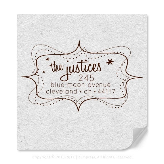 Custom Address Stamp - Personalized Address Stamp - Retro - DIY Printing - Housewarming - Wedding - Home Office Stamper - Holiday Address