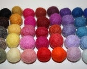 100 felted balls,15 -18mm MultiColor more than 45 different colors