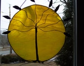 Yellow Stained Glass Tree of Life